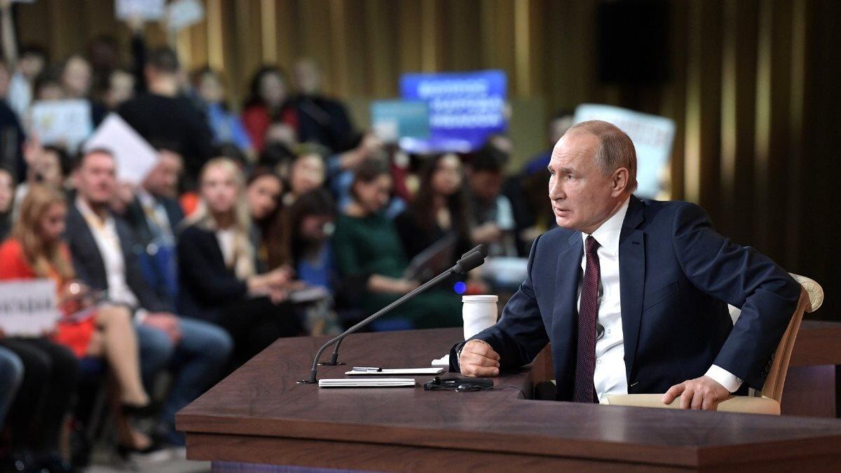 Большая пресс-конференция Владимира Путина Владимир Путин один