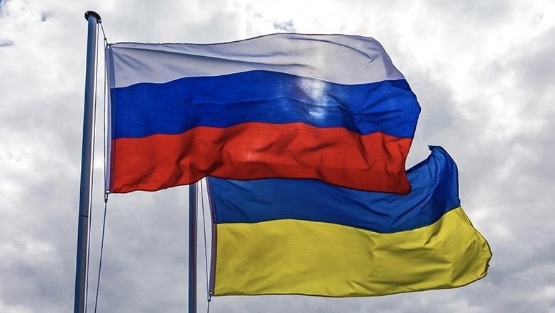 флаги россия украина