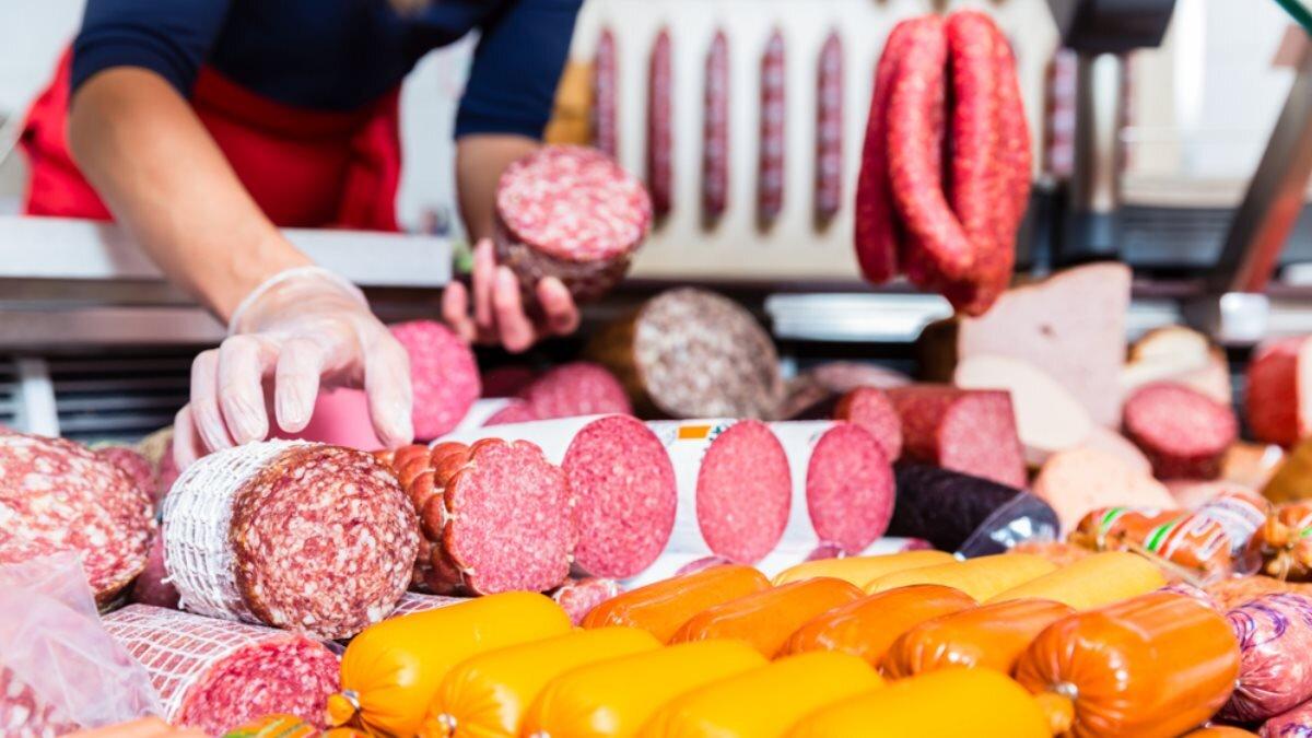 Мясо колбаса мясной отдел