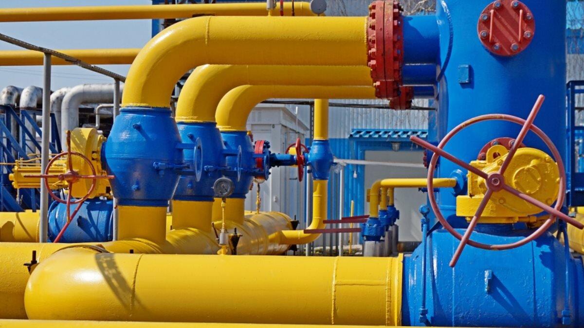 Газопровод транзит газа вентиль один
