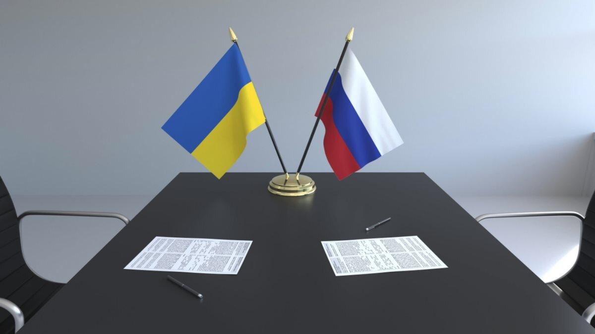 Россия Украина флаги переговоры