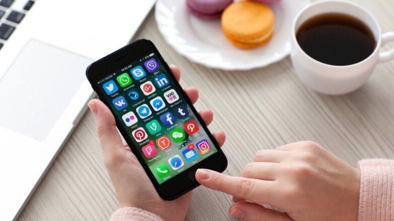 Телефон смартфон социальные сети приложения