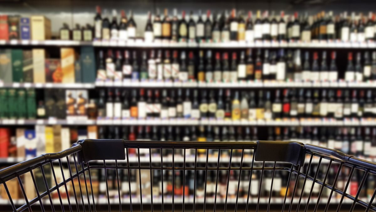 Алкоголь магазин супермаркет корзина