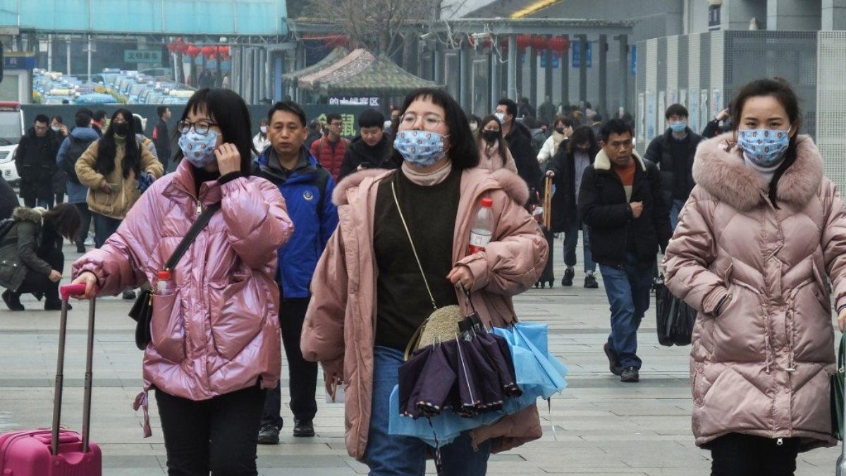 Китай коронавирус эпидемия улица два