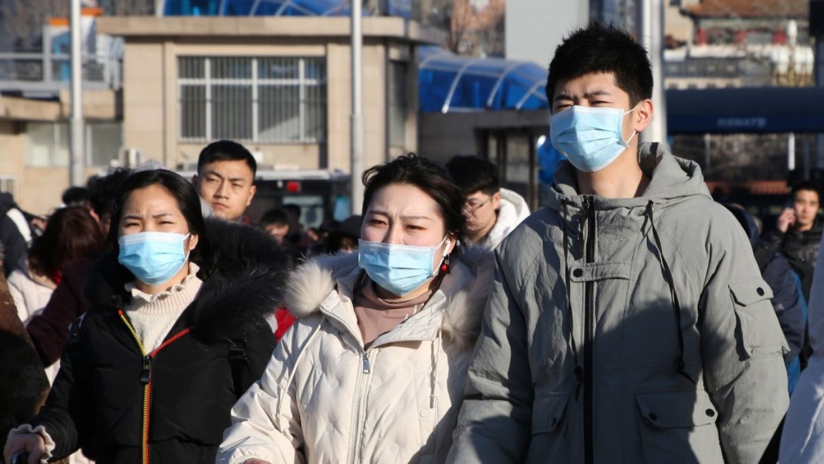 Китай коронавирус эпидемия улица три