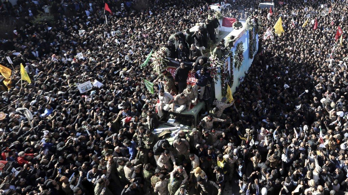 Давка Тегеран похороны 7 января