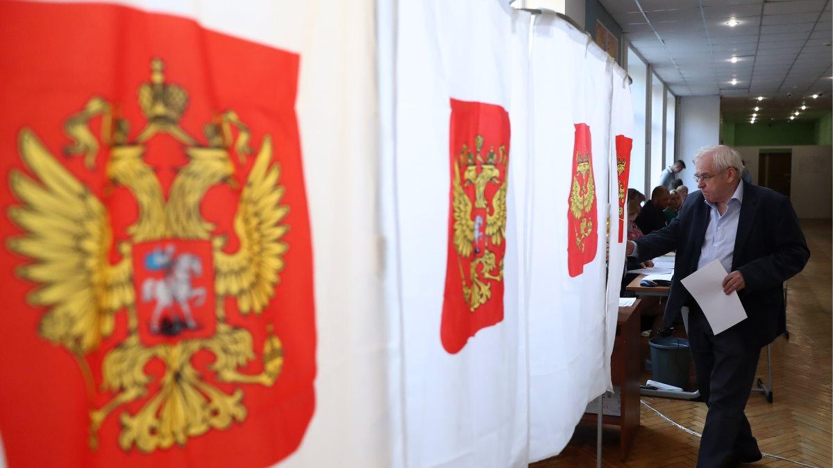 Выборы Россия РФ голосование избиратели бюллетень один