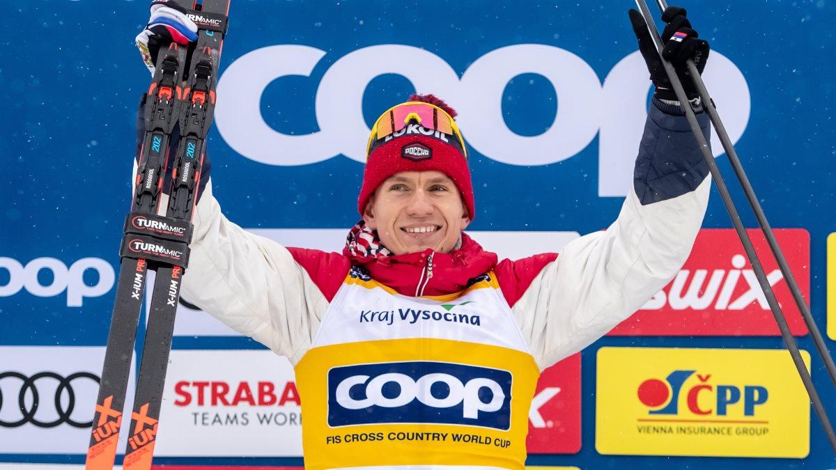 Лыжник Александр Большунов два