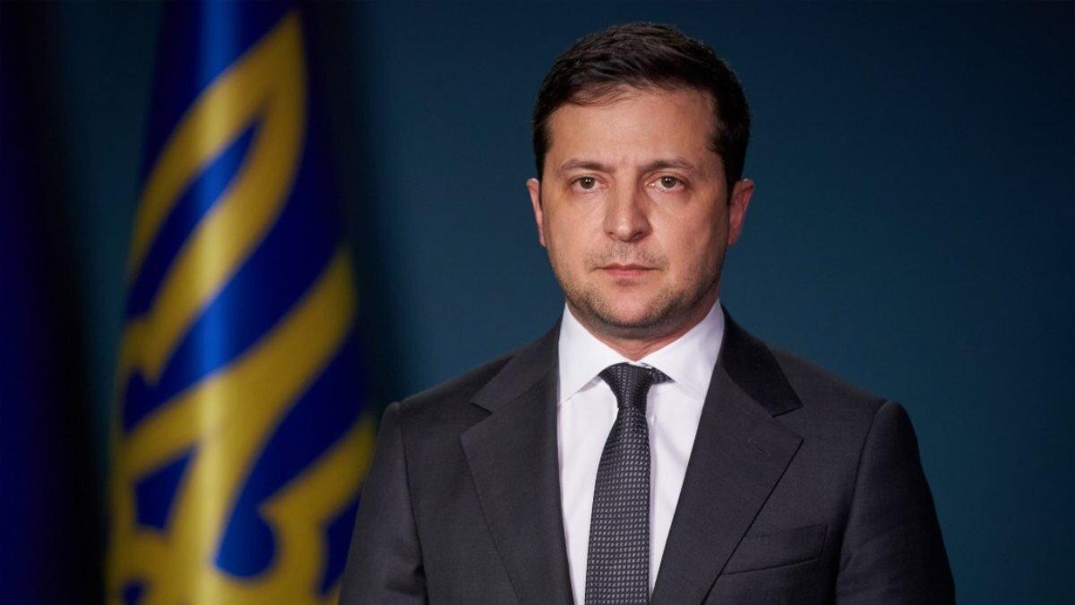Президент Украины Владимир Зеленский суровый