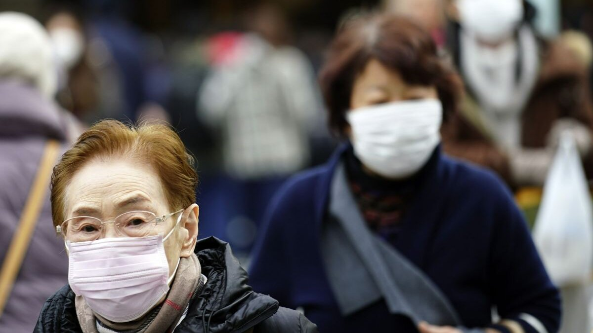 Китай коронавирус эпидемия улица один