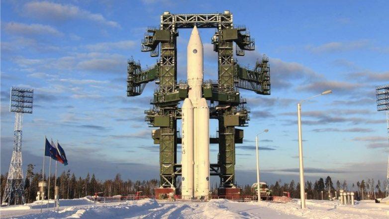 ракета-носитель Ангара-А5 зима Плесецк