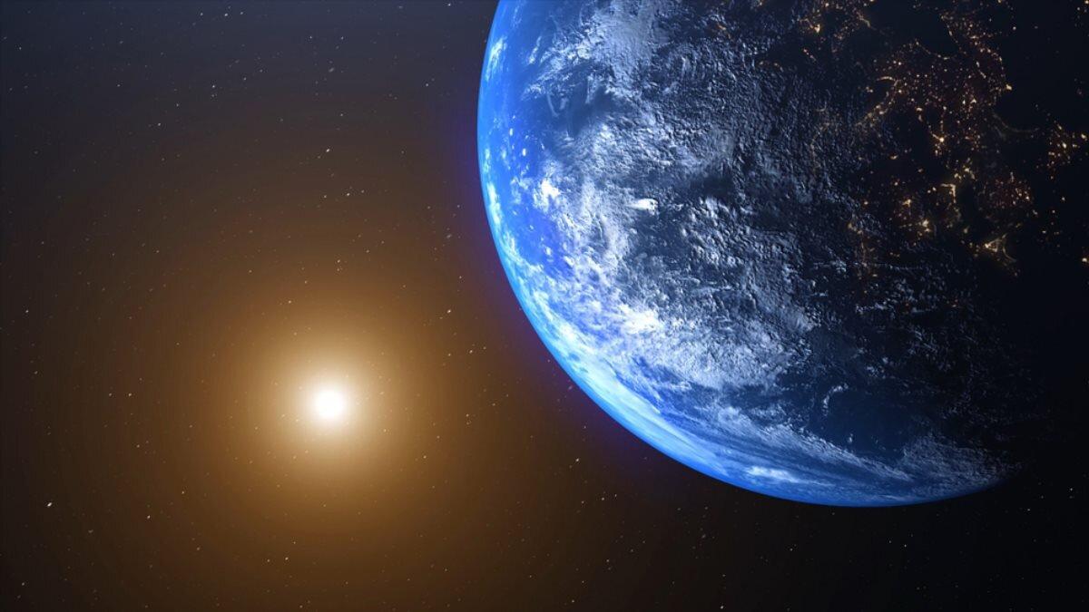 Солнце планета Земля космос