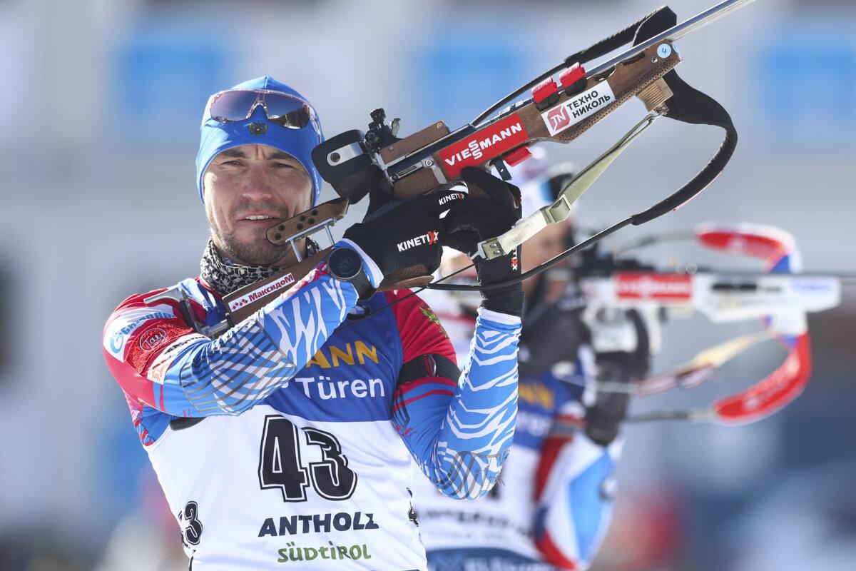 Биатлонист Александр Логинов победил в спринте на Чемпионате мира по биатлону в Антхольце