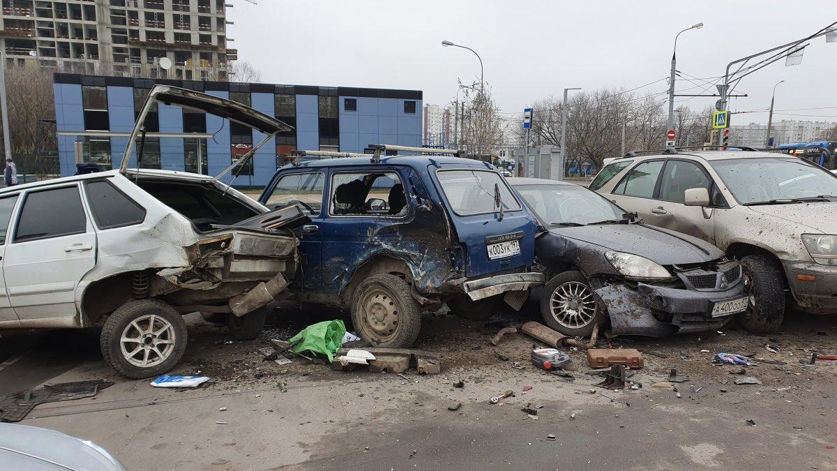 Массовое ДТП Москва