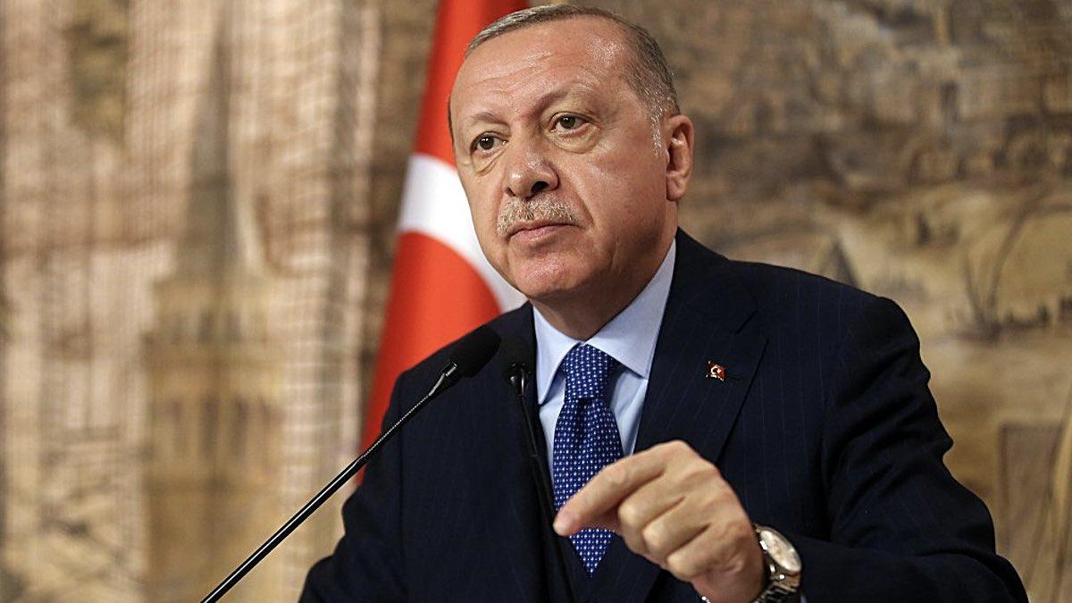 Президент Турции Реджеп Тайип Эрдоган выступает
