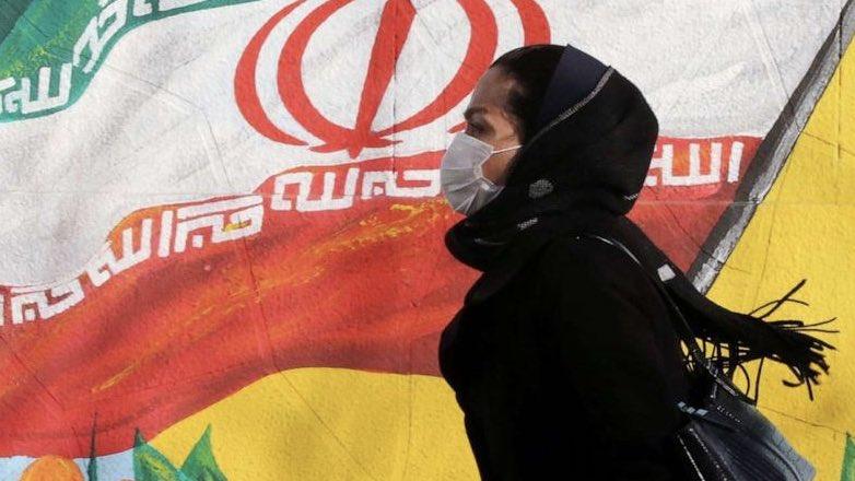 Иран Коронавирус флаг