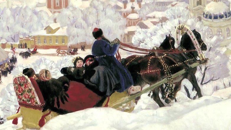 """Масленица"", Б.Кустодиев, 1916"