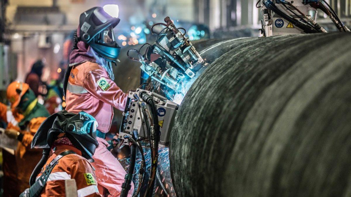 Труба Северный поток-2 газопровод сварка один