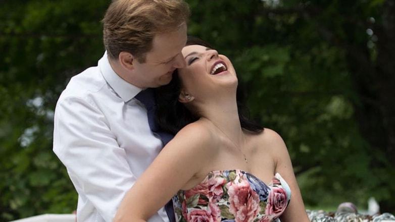 Ирина Слуцкая с супругом