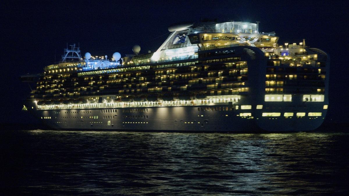ночь корабль Diamond Princess