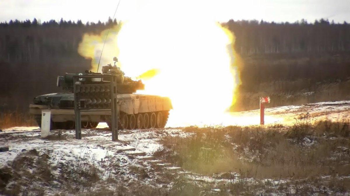 стрельба из танка в движении