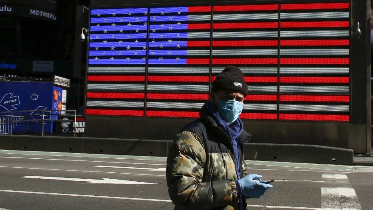 Коронавирус США флаг мужчина