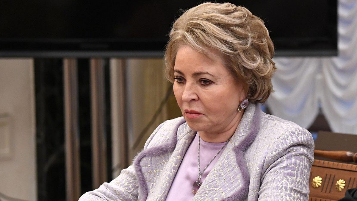 Председатель Совета Федерации Валентина Матвиенко задумчива