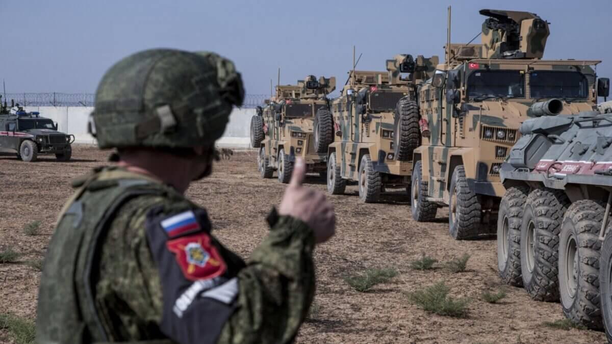 Российско-турецкий патруль военная полиция в Сирии Россия Турция Сирия