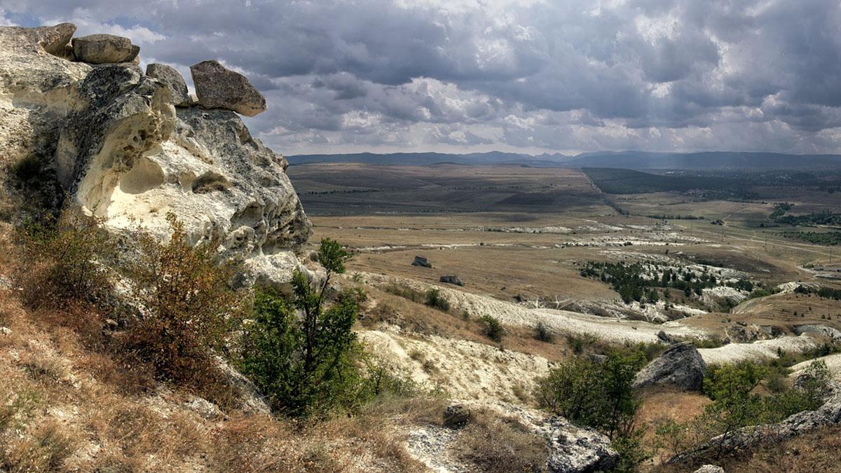 Крым Горы Скалы Облака