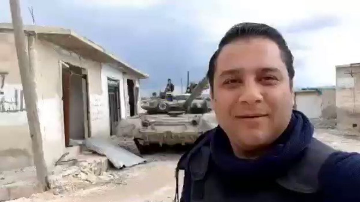 Отбитый у боевиков Т-90 в Сирии