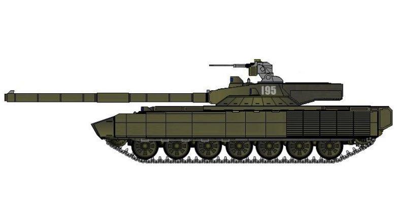 Предположительный внешний вид Т-95
