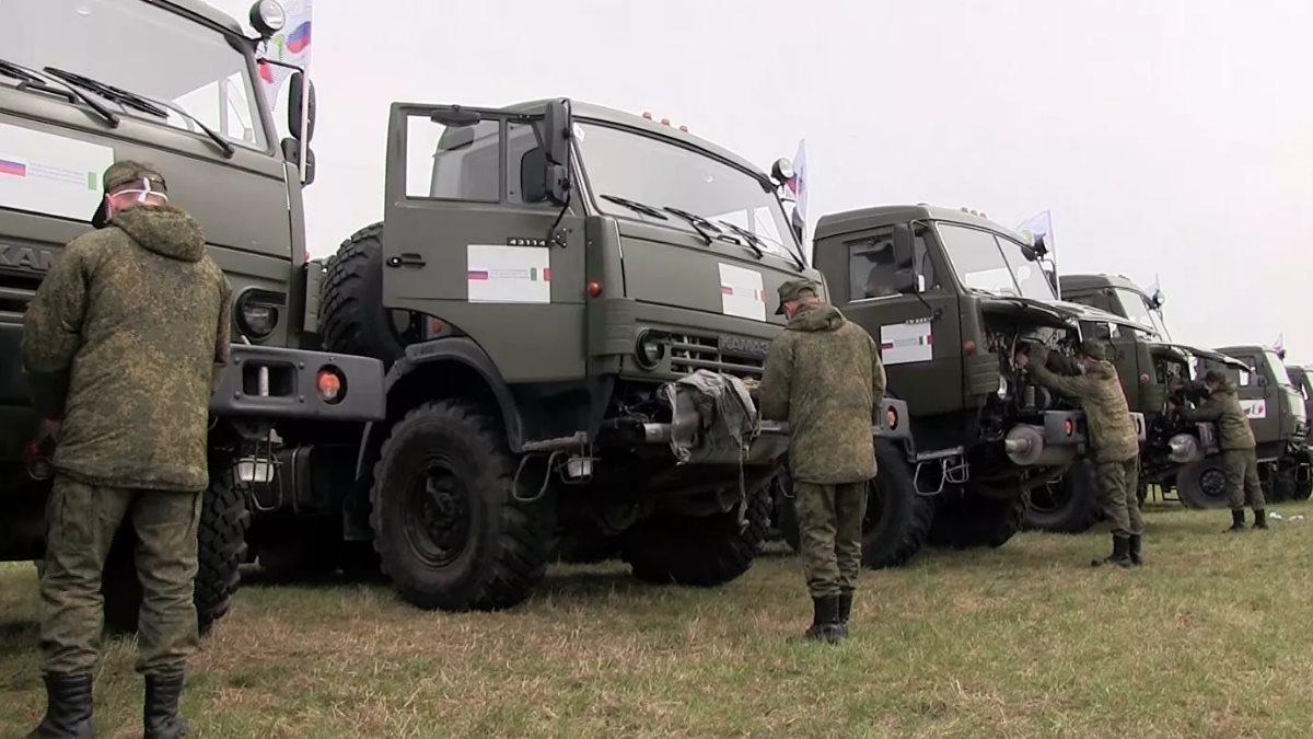 Российские военные специалисты коронавирус