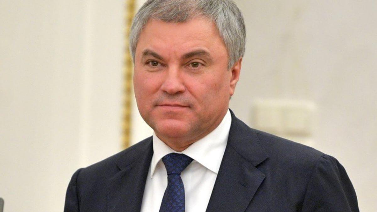 Cпикер Госдумы Вячеслав Володин два