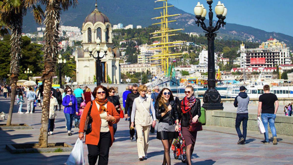 Ялта Крым туризм набережная весна осень