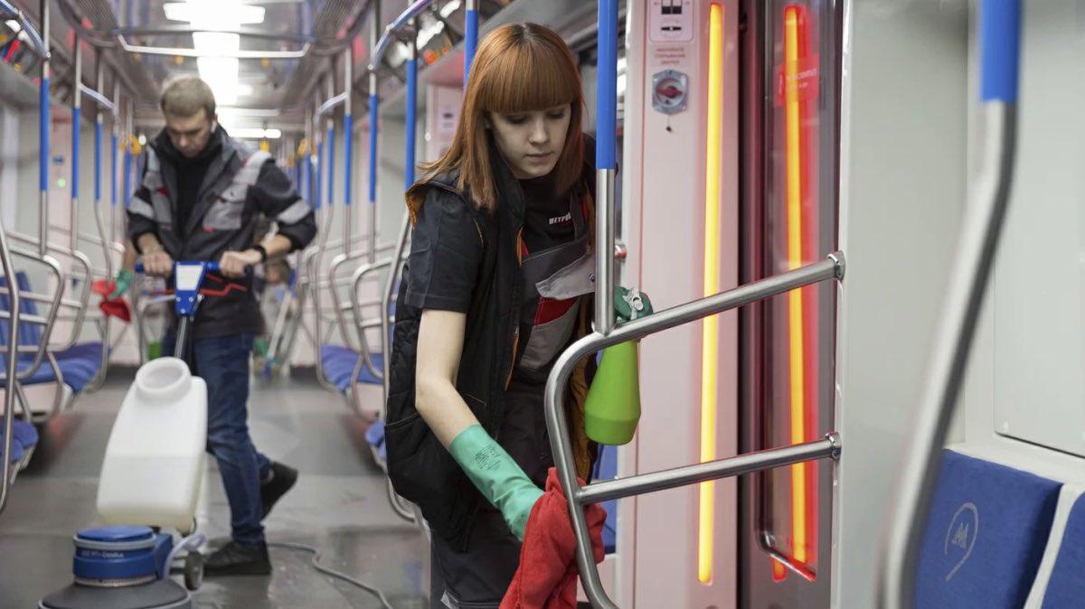 дезинфекция в метро коронавирус
