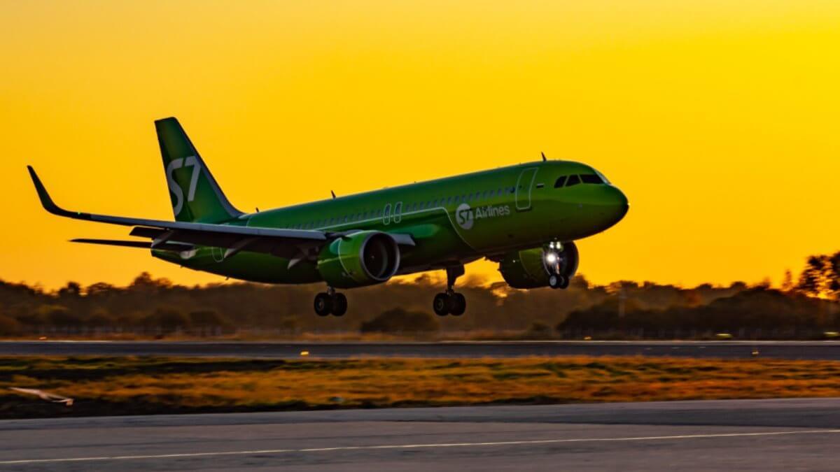 Самолёт Airbus A320neo авиакомпания авиакомпания S7 Airlines