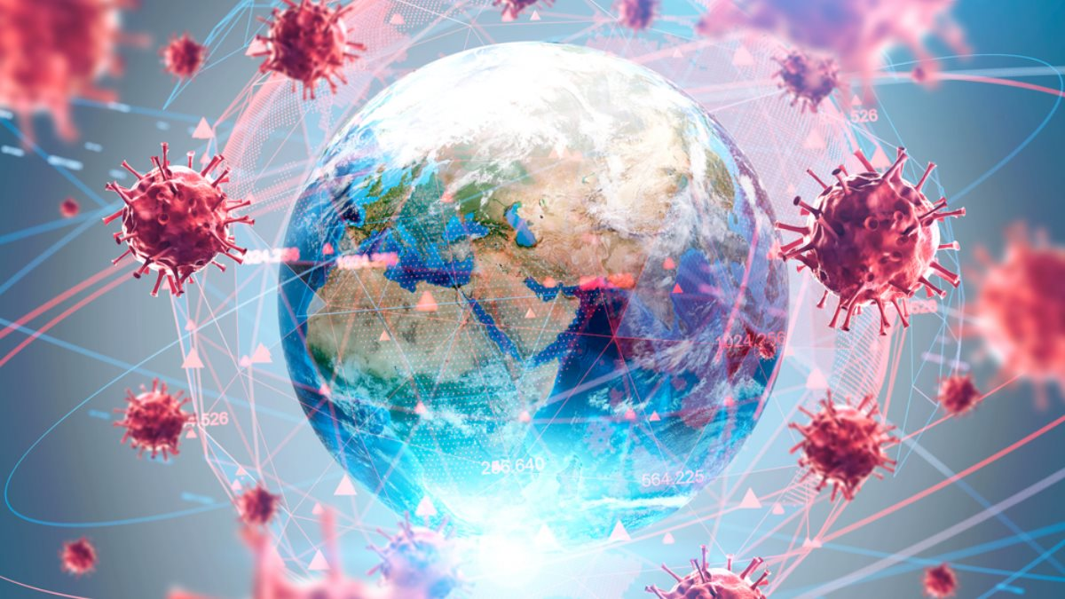Коронавирус Мир Земля пандемия один