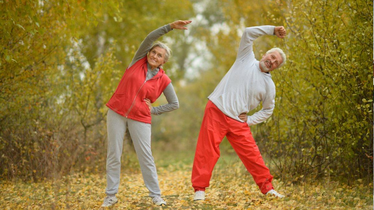 Пожилые старые спорт фитнесс