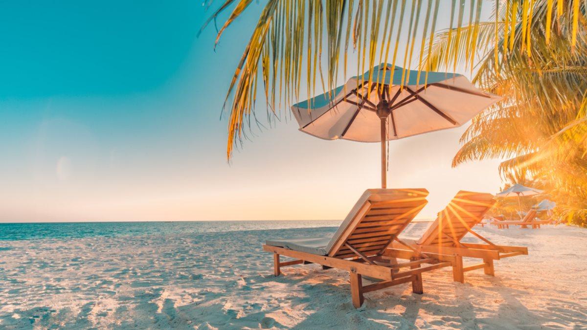 Туризм пустой пляж тропики