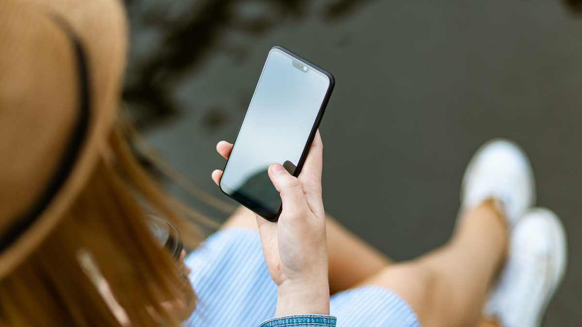 Смартфон Телефон Девушка с телефоном