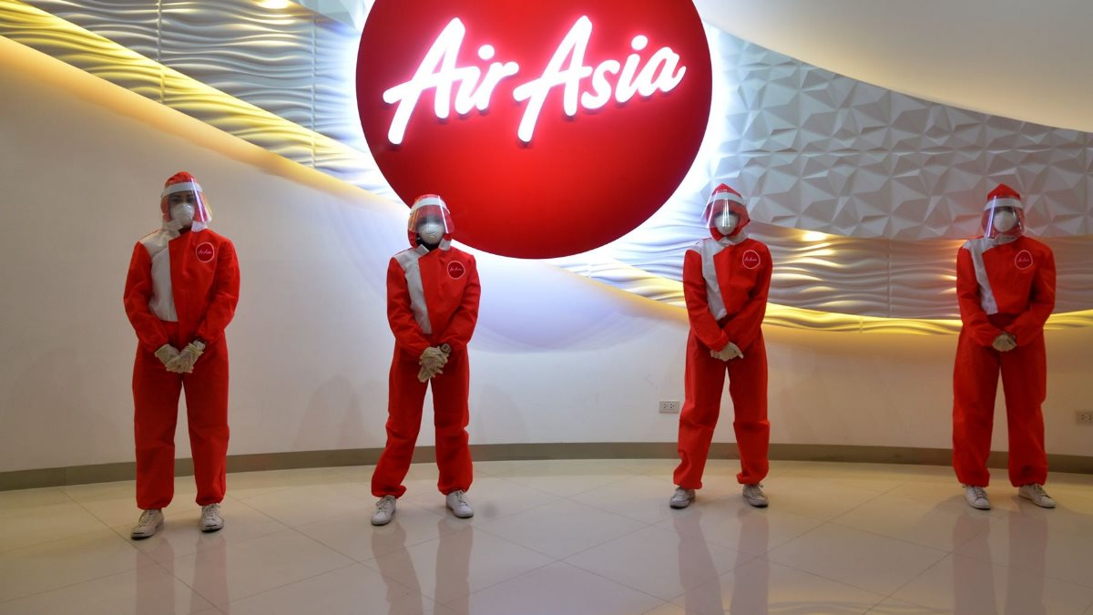 Коронавирус Форма сотрудников авиакомпания AirAsia