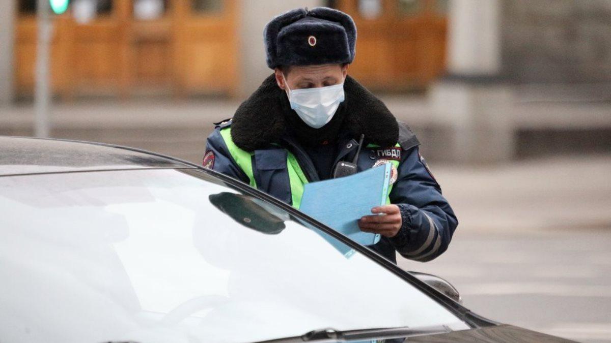 Россия коронавирус полиция ДПС ГИБДД проверка документов