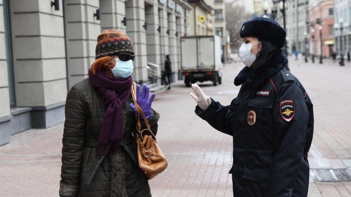 Россия полиция коронавирус карантин рейд
