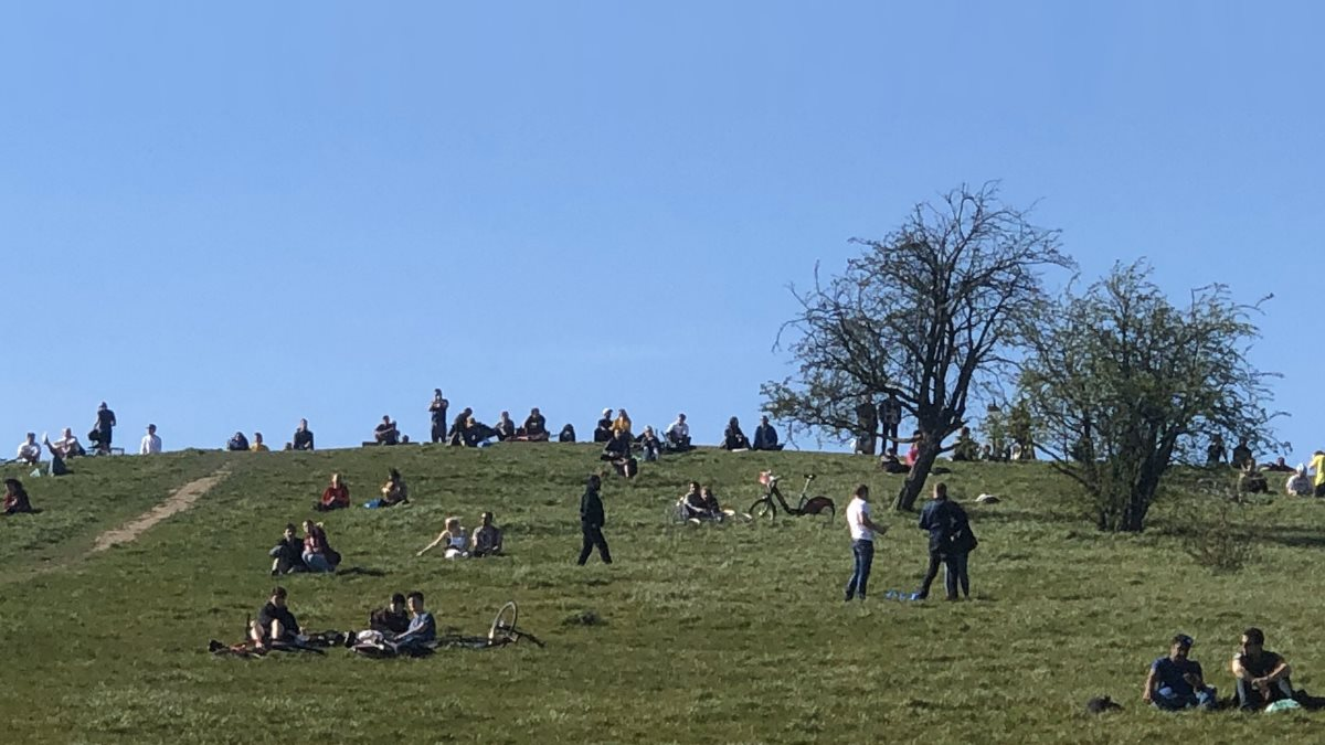 Британцы вышли на пикник во время эпидемии