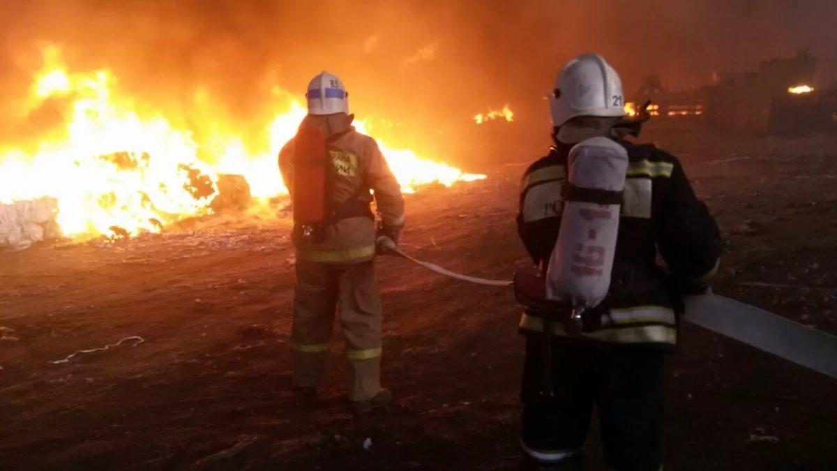 Пожар на территории исправительной колонии в Иркутской области