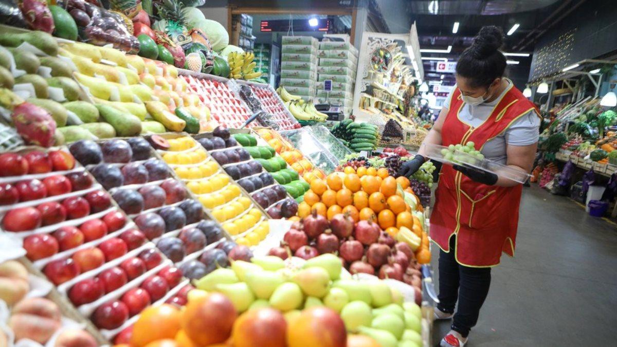 Супермаркет магазин продукты овощи фрукты