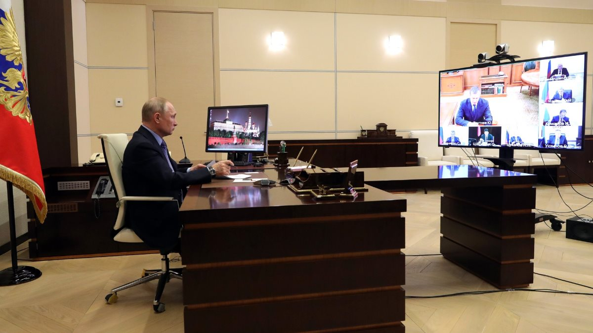 Владимир Путин телеконференция видеоконференция с полномочными представителями Президента