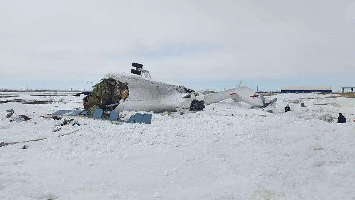 Жёсткая посадка Ми-26 на Ямале