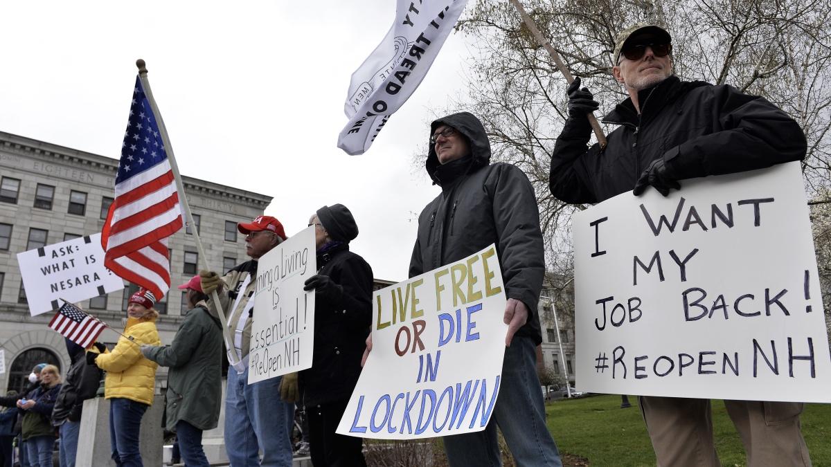 протесты коронавирус США