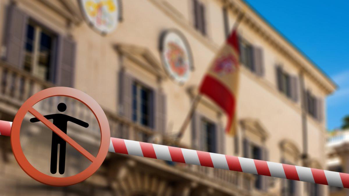 Мадрид Испания коронавирус закрытая граница карантин